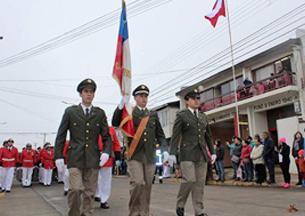 Desfile por el Día del Bombero en el Cuerpo de Bomberos de Teno