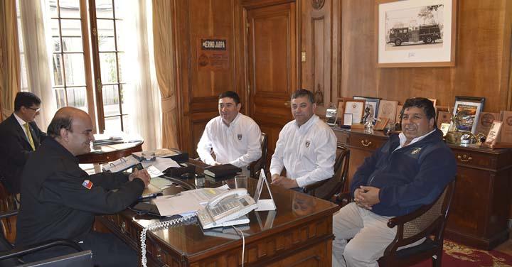 Presidente Nacional se reunió con los Cuerpos de Bomberos de Los Muermos, Rancagua y San José de Maipo