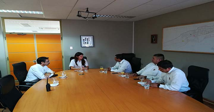 Superintendente Daniel Bugueño junto a otros altos oficiales realizaron visita protocolar a la alcaldesa de Antofagasta Karen Rojo
