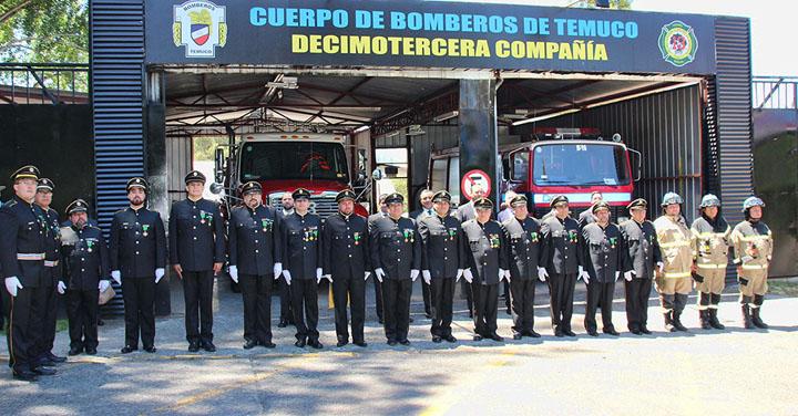 Decimotercera Compañía de Bomberos de Temuco celebró su primer año de existencia