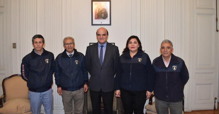 Presidente Nacional se reunió con Bomberos de Lota y Valparaíso