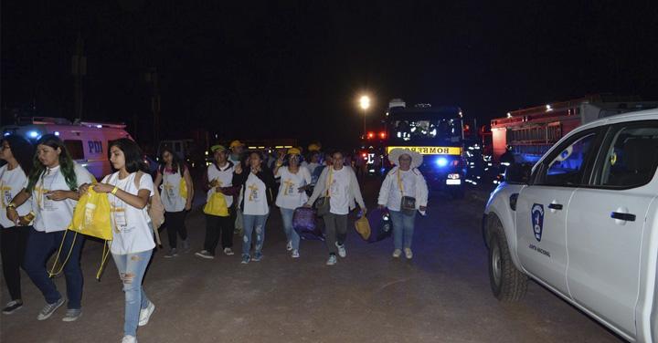 Bomberos de Chile realizó importante despliegue tras visita Papal