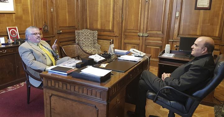 Presidente Nacional recibió al Cuerpo de Bomberos de Quillota, Freirina y Cartagena
