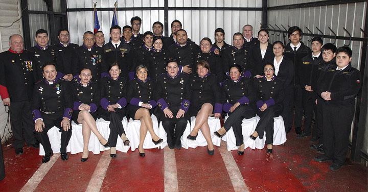Duodécima Compañía del CB de Temuco celebró su segundo aniversario