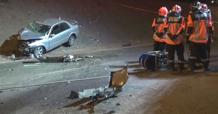 Bomberos de Iquique concurrió a colisión de alta energía