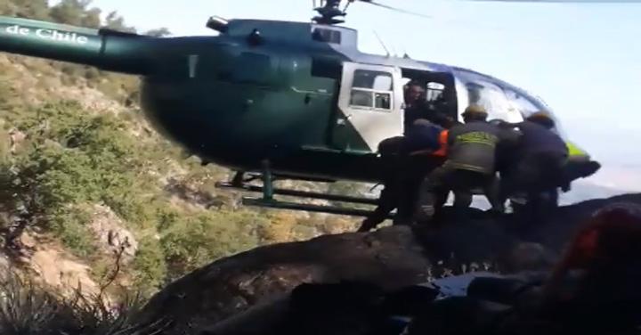 Bomberos de Coltauco y Doñihue realizaron complejo rescate desde Cerro Poqui