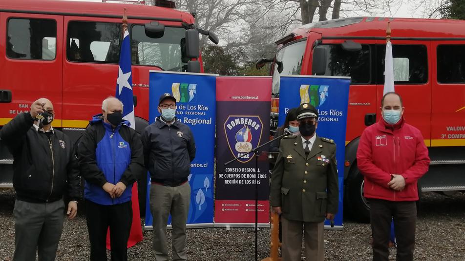 Autoridades de la Región de los Ríos entregan oficialmente nuevas unidades de Material Mayor