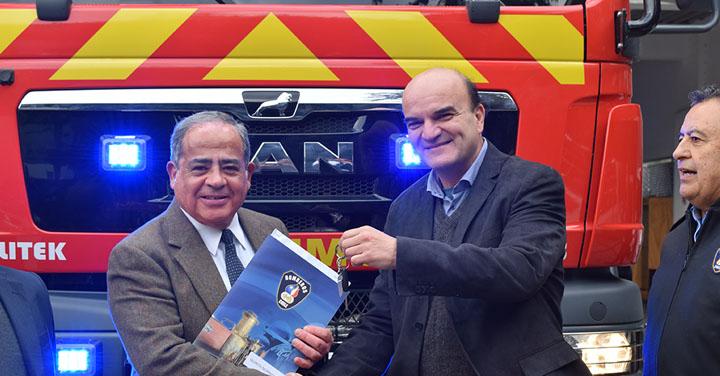 Novena Compañía del Cuerpo de Bomberos de Quinta Normal, recibe nuevo carro