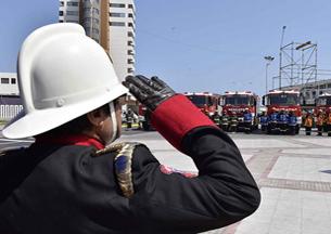Entregan nuevos carros de bomberos para la región de Tarapacá