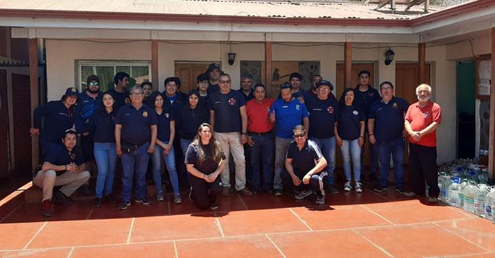 Décima Tercera Compañía de Valparaíso realizo donación a Bomberos de Petorca