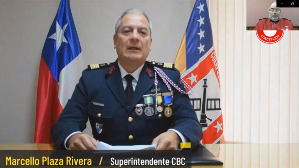 Bomberos de Concepción celebraron su día de forma virtual