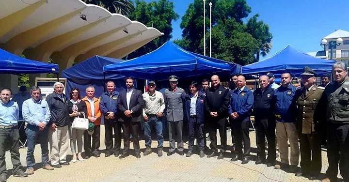 Presidente Nacional de Bomberos participó de primera expo en prevención de incendios forestales en Cauquenes