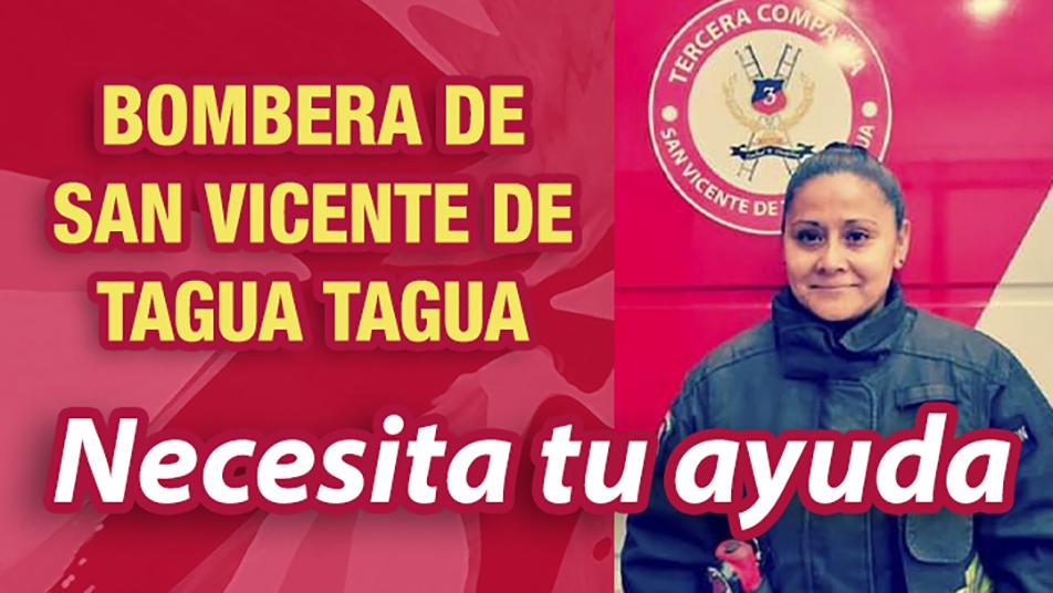 Iniciamos campaña de donación para ir en ayuda de Bombera de San Vicente de Tagua Tagua
