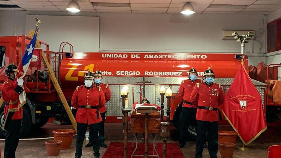 Falleció Director Honorario del Cuerpo de Bomberos de Coyhaique Sergio Rodríguez Torres