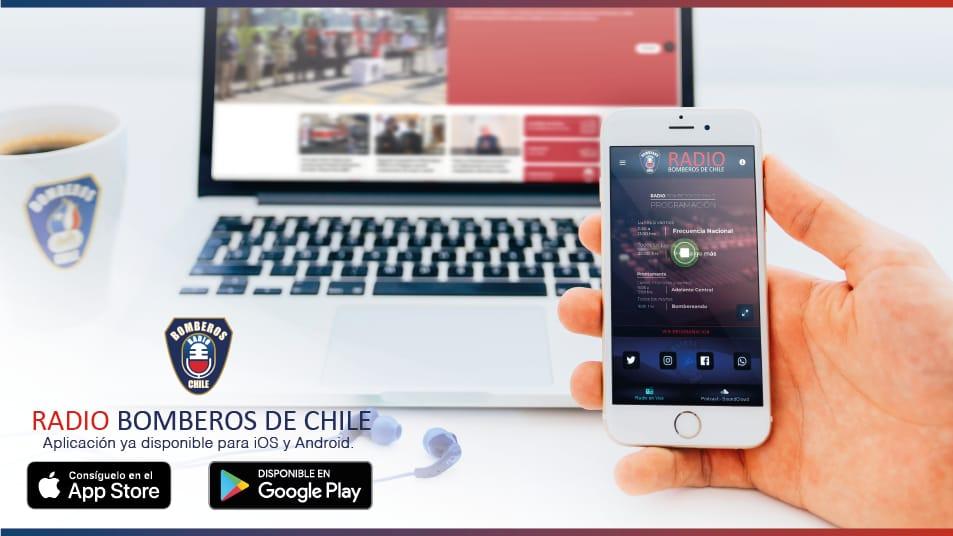 Ya está disponible la nueva APP de Radio Bomberos de Chile