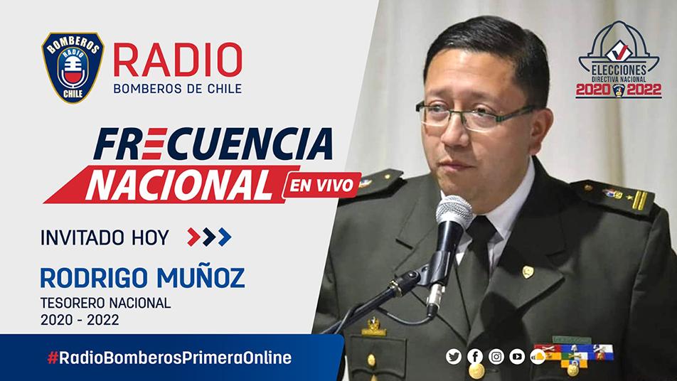 Entrevista a Rodrigo Muñoz, recientemente electo Tesorero Nacional de Bomberos de Chile, para el período 2020-2022