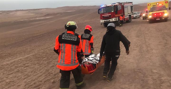 Caída de parapentista movilizó a Bomberos de Iquique en Palo Buque