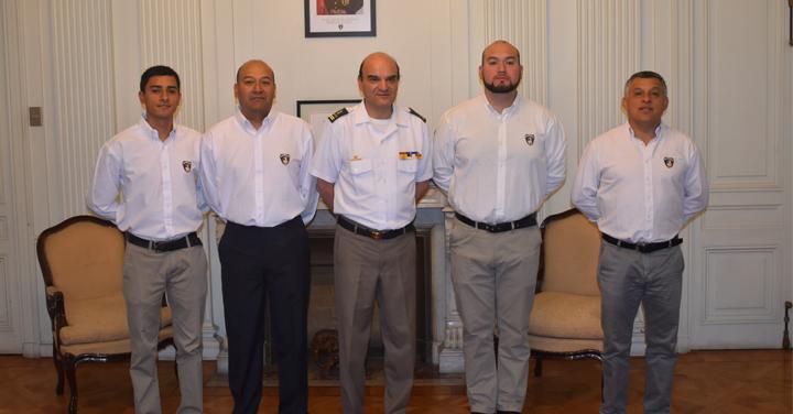 Presidente Nacional recibió visita del Cuerpo de Bomberos de La Serena