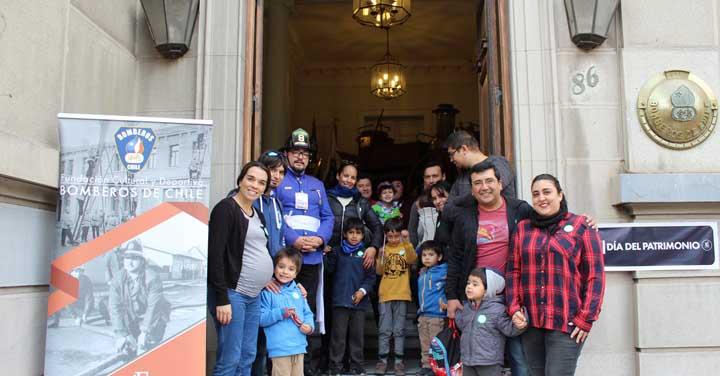 Un gran marco de público acompañó a Bomberos de Chile en el Día del Patrimonio Cultural