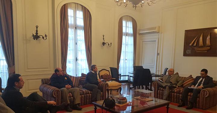 Cuerpo de Bomberos de Viña del Mar visita al Presidente Nacional