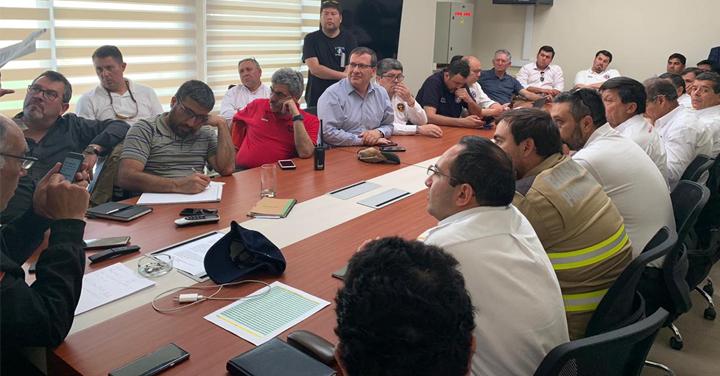 Superintendentes y Comandantes de la RM se reunieron para abordar servicio bomberil en la emergencia