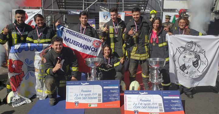 Chillán y Los Muermos se coronaron ganadores de la Final Nacional del Desafío Bomberos de Chile 2019