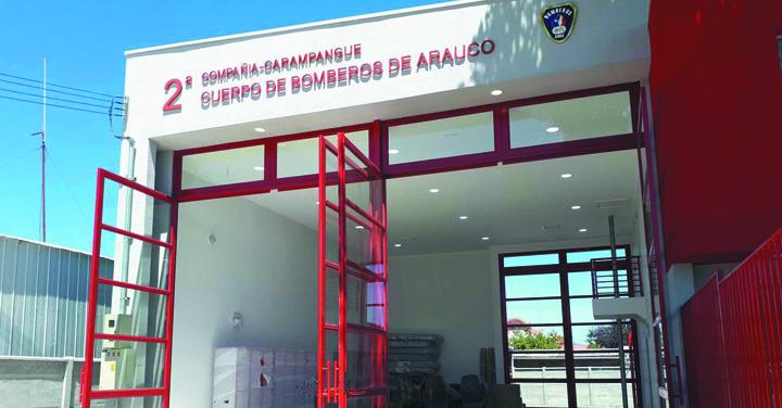 Transmisión online lunes 19: inauguración cuartel 2° Compañía del Cuerpo de Bomberos de Arauco