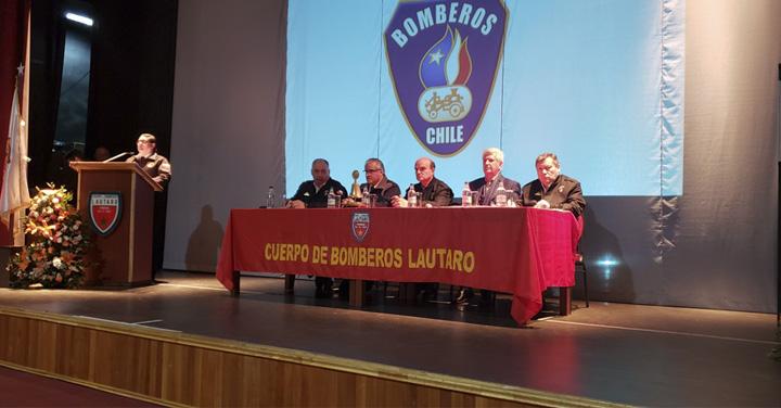 Con la presencia del Presidente Nacional se realizó exitosa Asamblea Regional de Bomberos en la Araucanía