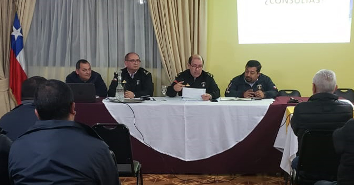 Directivos de la Academia Nacional de Bomberos visitaron la Región de Ñuble