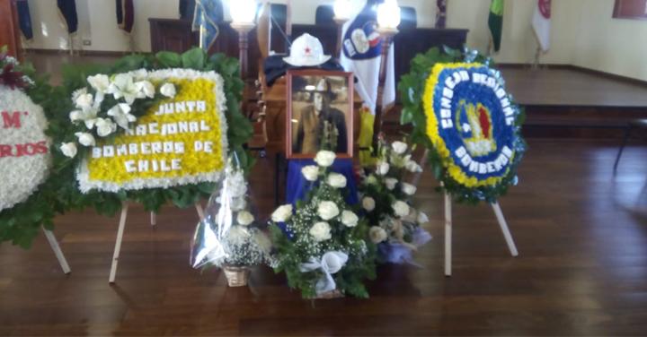 Transmisión on line de ceremonia de funeral de don Víctor Manuel Álvarez Rojas, el bombero más antiguo de Chile