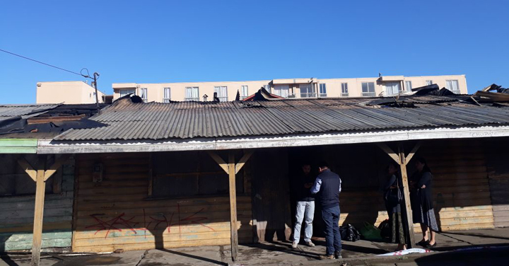 Incendio en Lota dejó a voluntarios lesionados