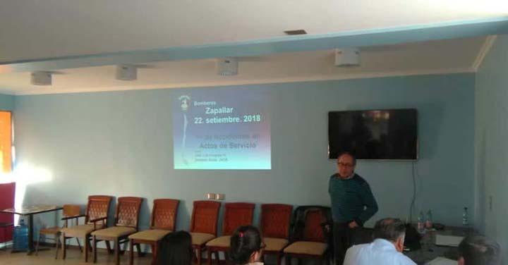 Consejo Provincial de Petorca realizó charla sobre accidentes en actos de servicio