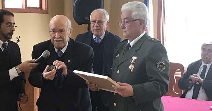 Gran Logia realizó reconocimiento a Director Honorario de Puerto Montt