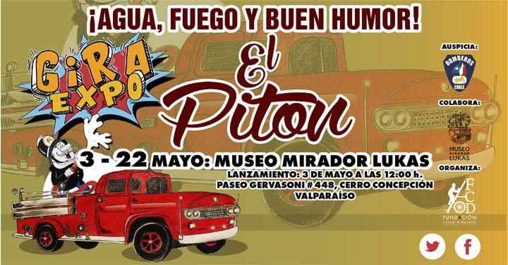 """Exposición """"¡Agua, Fuego y Buen Humor!"""" de Tina Fuentes en Valparaíso"""