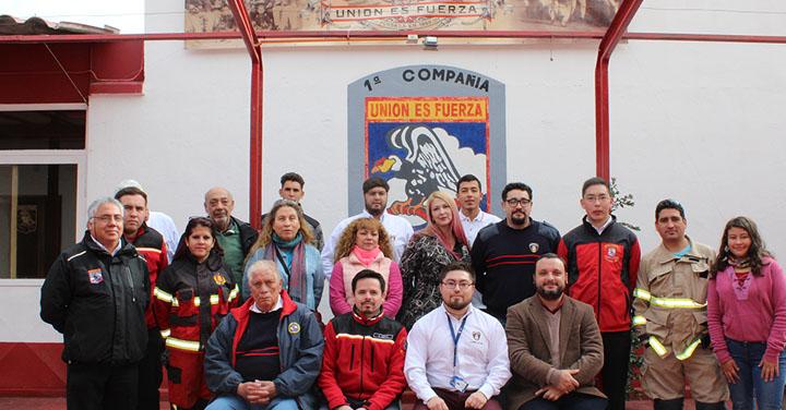Fundación Cultural realizó jornada de capacitación en el Cuerpo de Bomberos de Los Andes