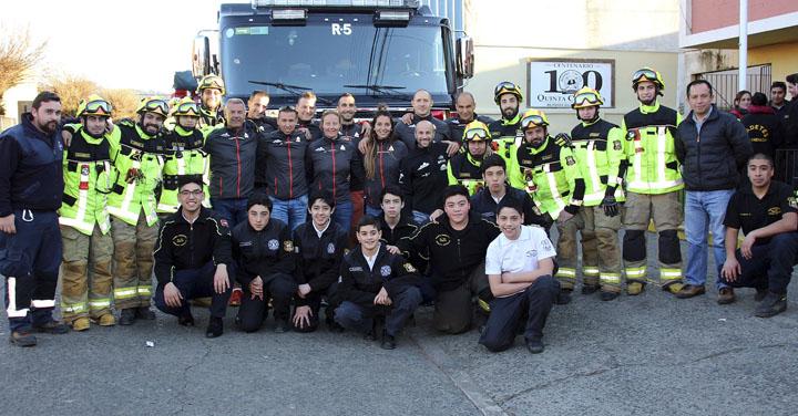 Bomberos franceses conocieron el Cuerpo de Bomberos de Temuco