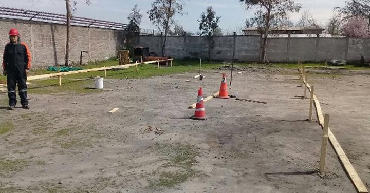 Comenzó la construcción del Campo de Entrenamiento para CB de La Granja