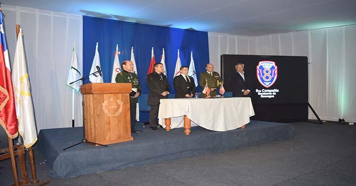 Presidente Nacional participó en la fundación de la Octava Compañía de Rancagua