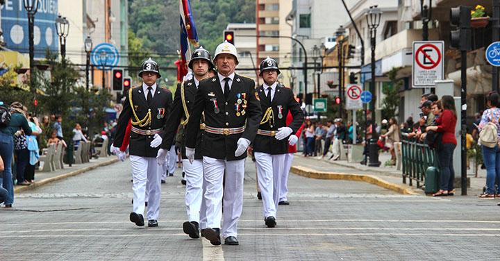 Cuerpo de Bomberos de Temuco celebró su aniversario 121