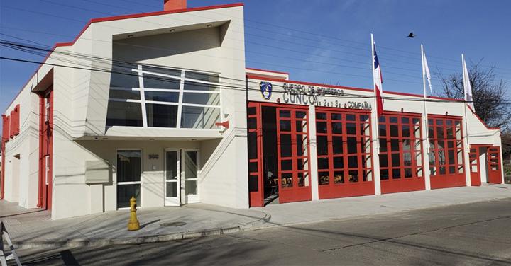 Directiva Nacional de Bomberos de Chile asistió a inauguración de cuartel de Bomberos de Cunco
