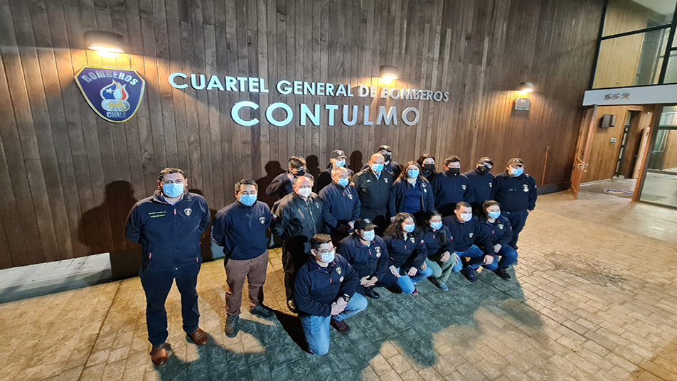 Presidente Nacional visitó Cuerpos de Bomberos de la Provincia de Arauco