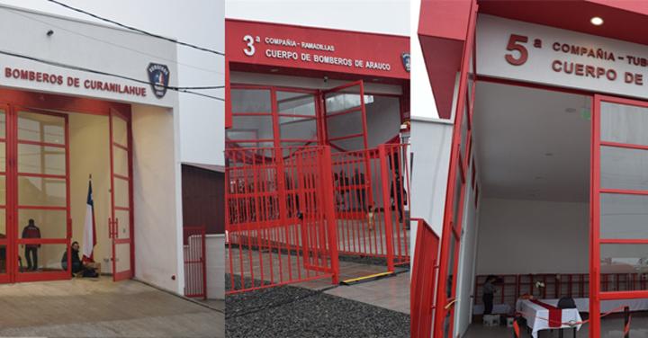 Curanilahue y Arauco cuentan con tres nuevos cuarteles
