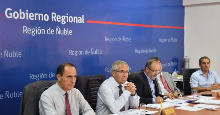 Directivos del Consejo Regional de Bomberos de Ñuble participaron en reunión del CORE