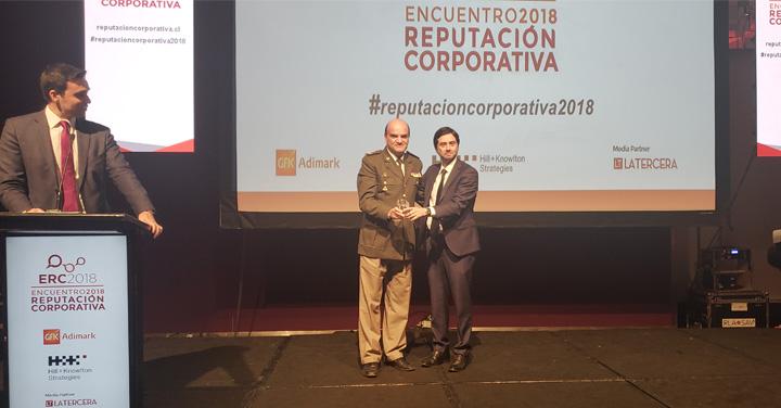 Bomberos de Chile fue reconocida como la institución con mejor reputación corporativa