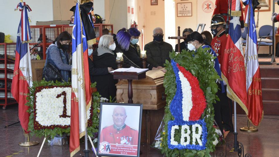 Bomberos de Rengo y la comunidad despiden a Voluntario Insigne de Chile y miembro Honorario de la institución