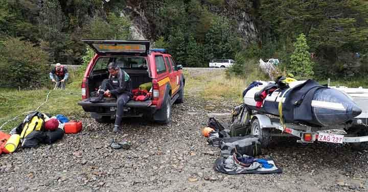 Grupo Gersa de Aysén participó en búsqueda en Río Baker