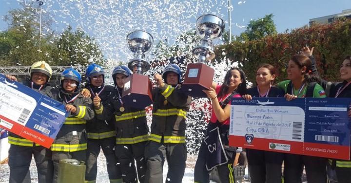 Chillán y Antofagasta se coronaron ganadores de la Gran Final del Desafío Bomberos de Chile 2018