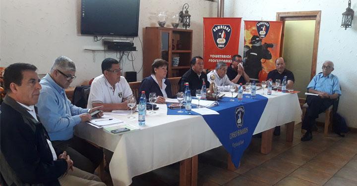 Se realizó Asamblea Regional de Bomberos del Maule