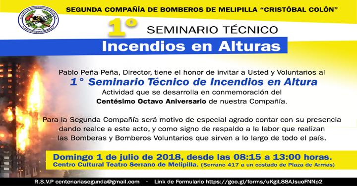 1° Seminario Técnico de Incendio en Altura en Melipilla