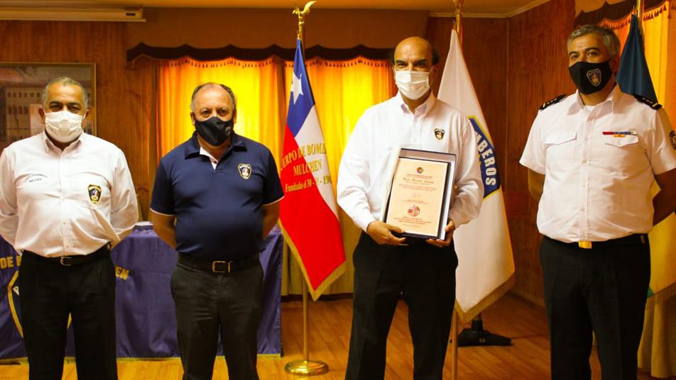 Recorrido por la zona centro - sur del país: Presidente Nacional visita la Brigada Caburgua y el Cuerpo de Bomberos de Mulchén